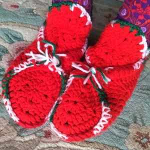 Vintage Accessories - Christmas Elf Knit Bootie Socks